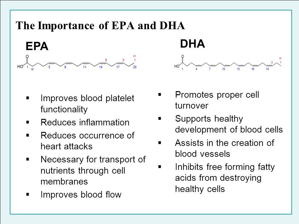 The Importance of EPA and DHA