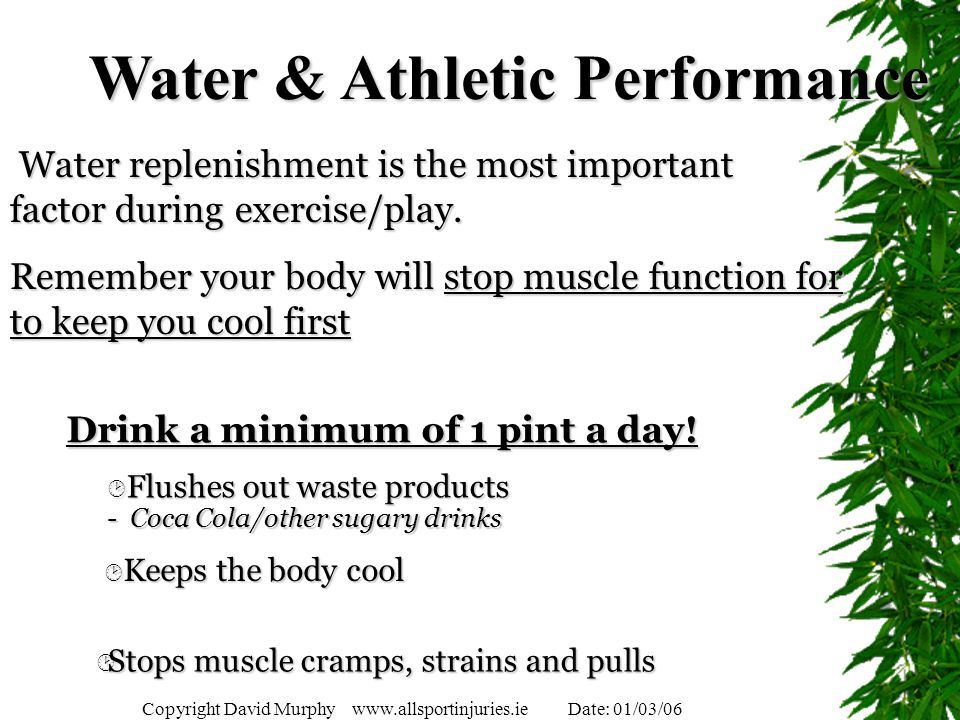 Water & Athletic Performance