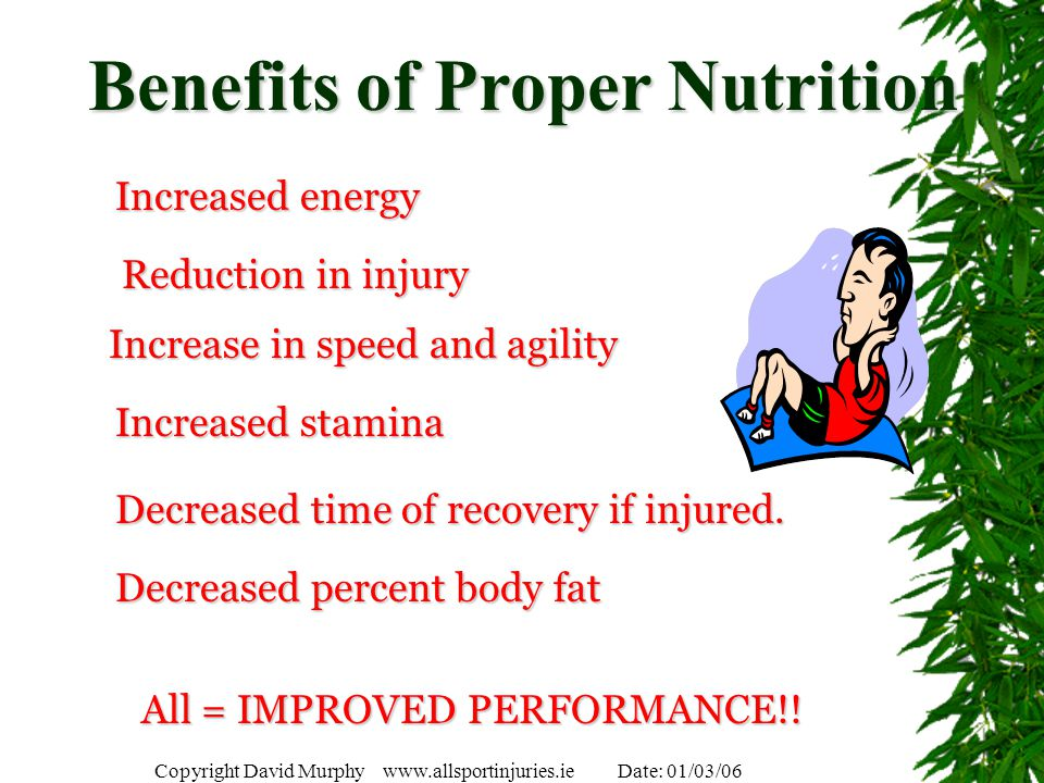 Benefits of Proper Nutrition