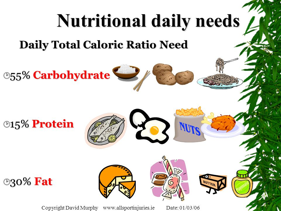 Nutritional daily needs