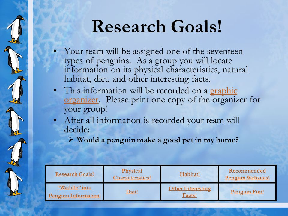 Research Goals!