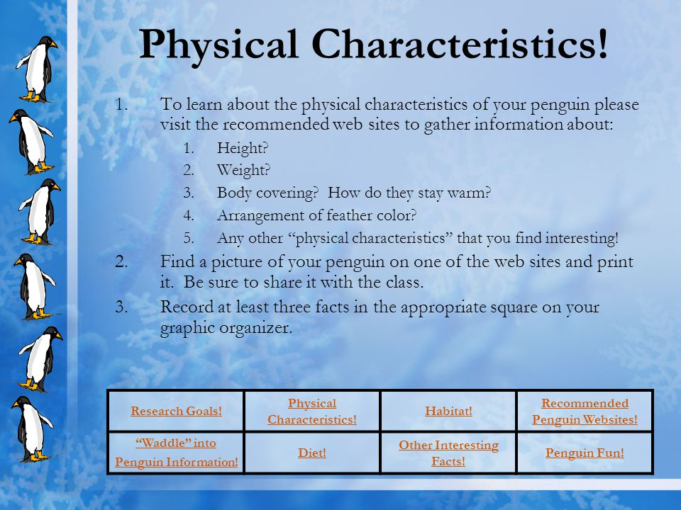 Physical Characteristics!