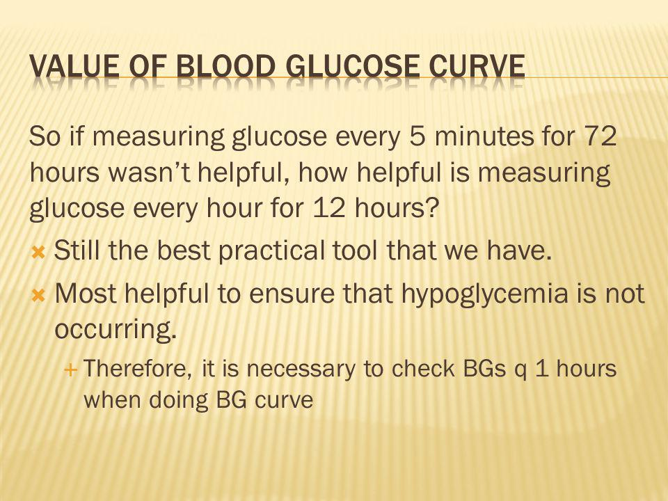 Value of blood glucose curve