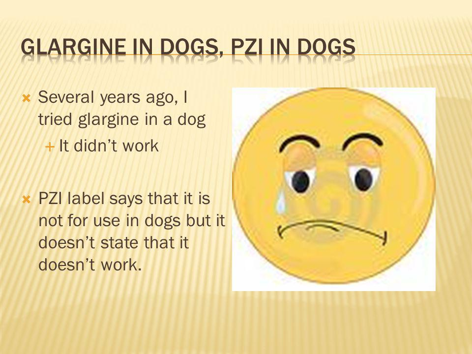 Glargine in dogs, PZI in dogs