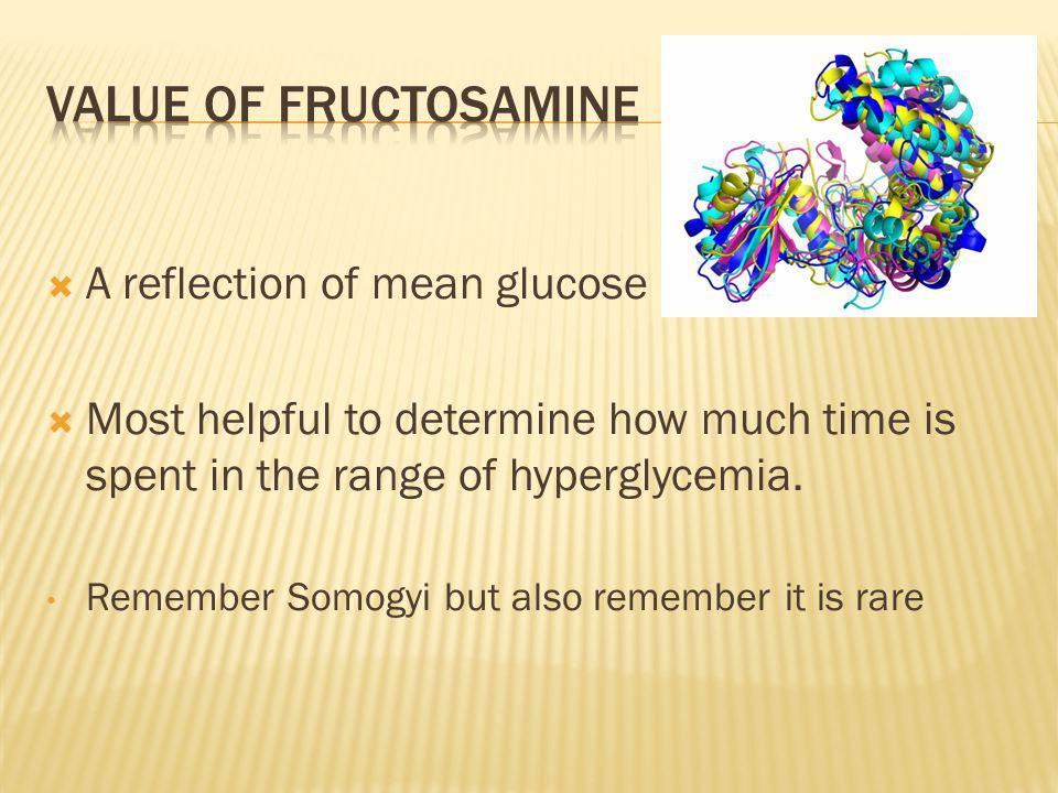 Value of fructosamine A reflection of mean glucose