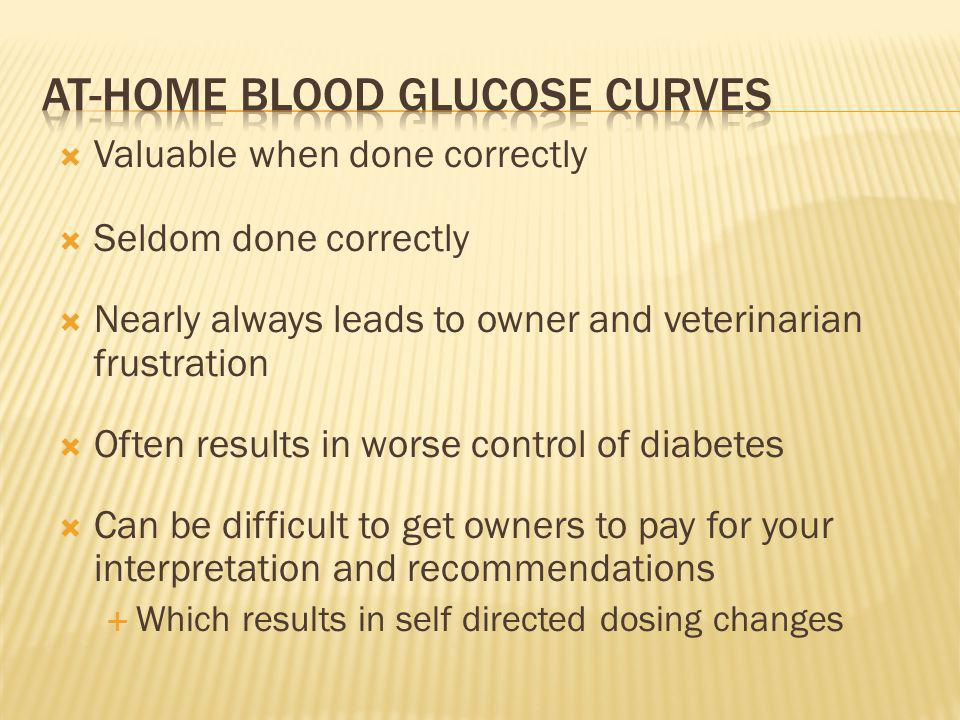 At-home blood glucose curves
