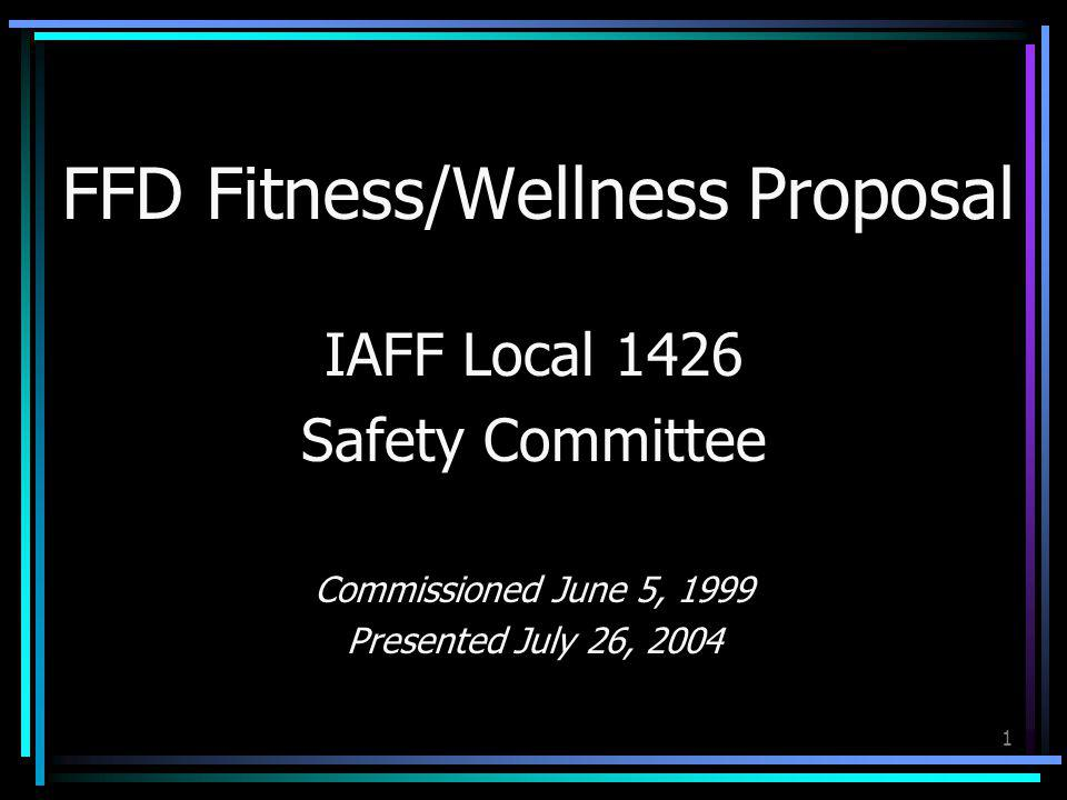 FFD Fitness/Wellness Proposal