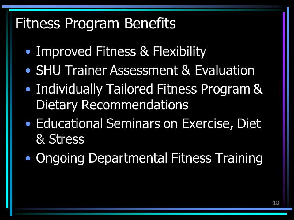 Fitness Program Benefits