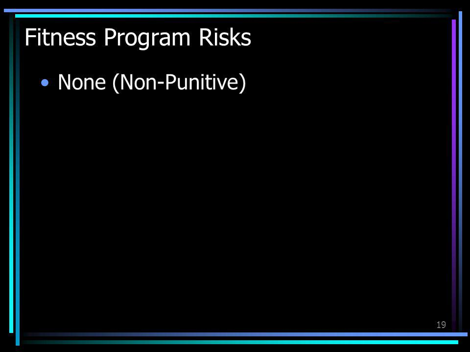 Fitness Program Risks None (Non-Punitive)