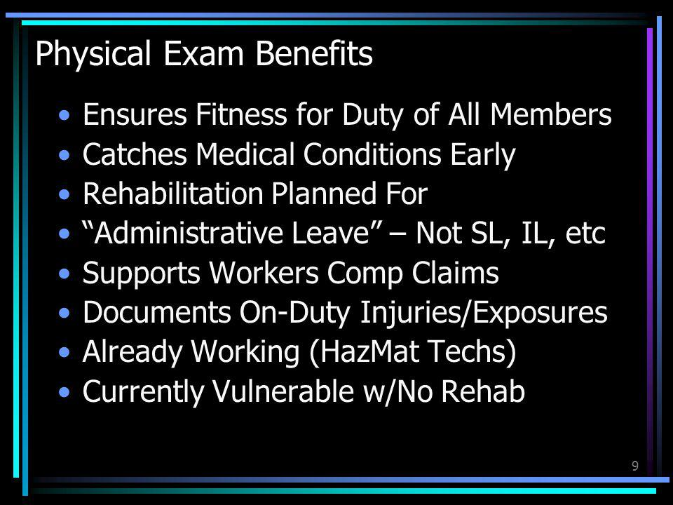 Physical Exam Benefits
