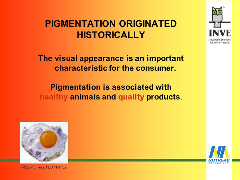 PIGMENTATION ORIGINATED HISTORICALLY