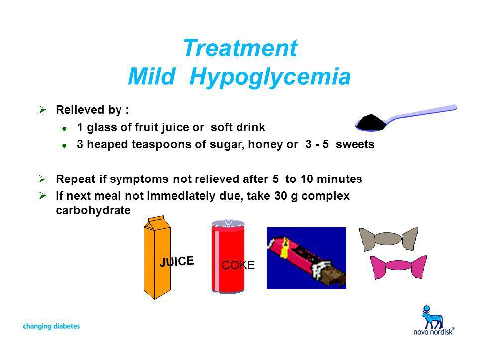Treatment Mild Hypoglycemia