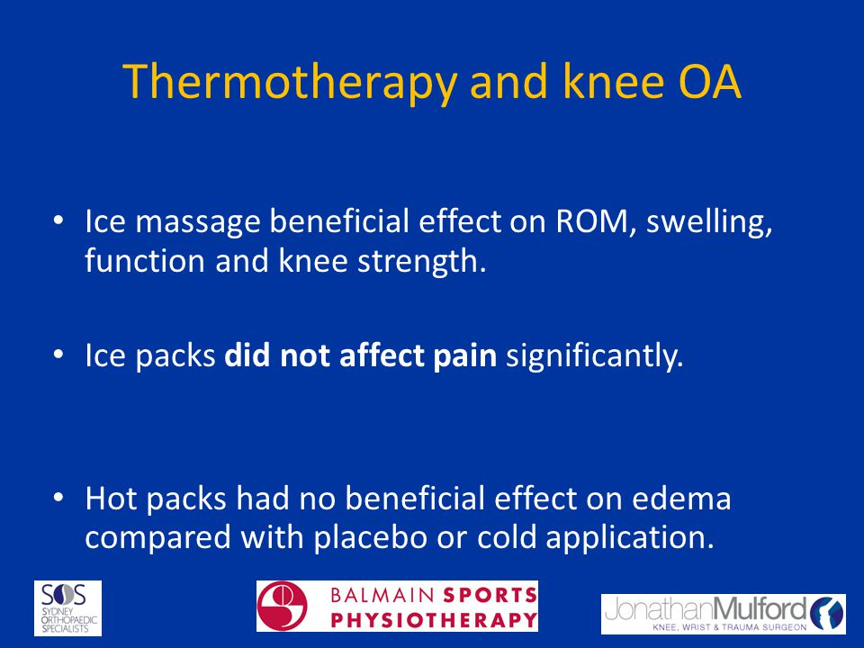 Thermotherapy and knee OA