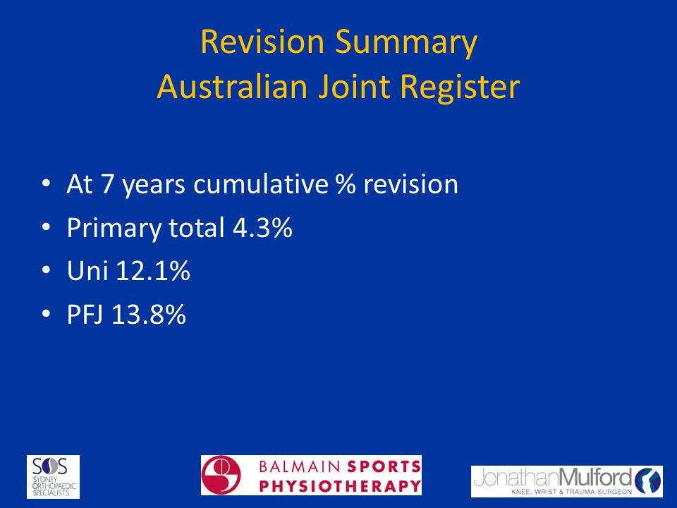 Revision Summary Australian Joint Register