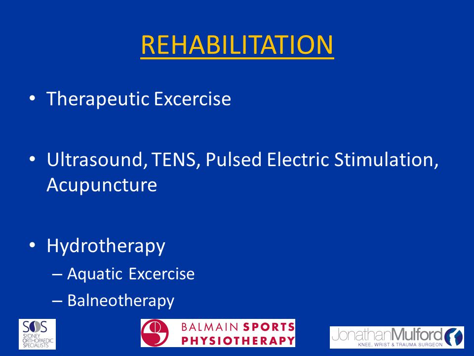 REHABILITATION Therapeutic Excercise