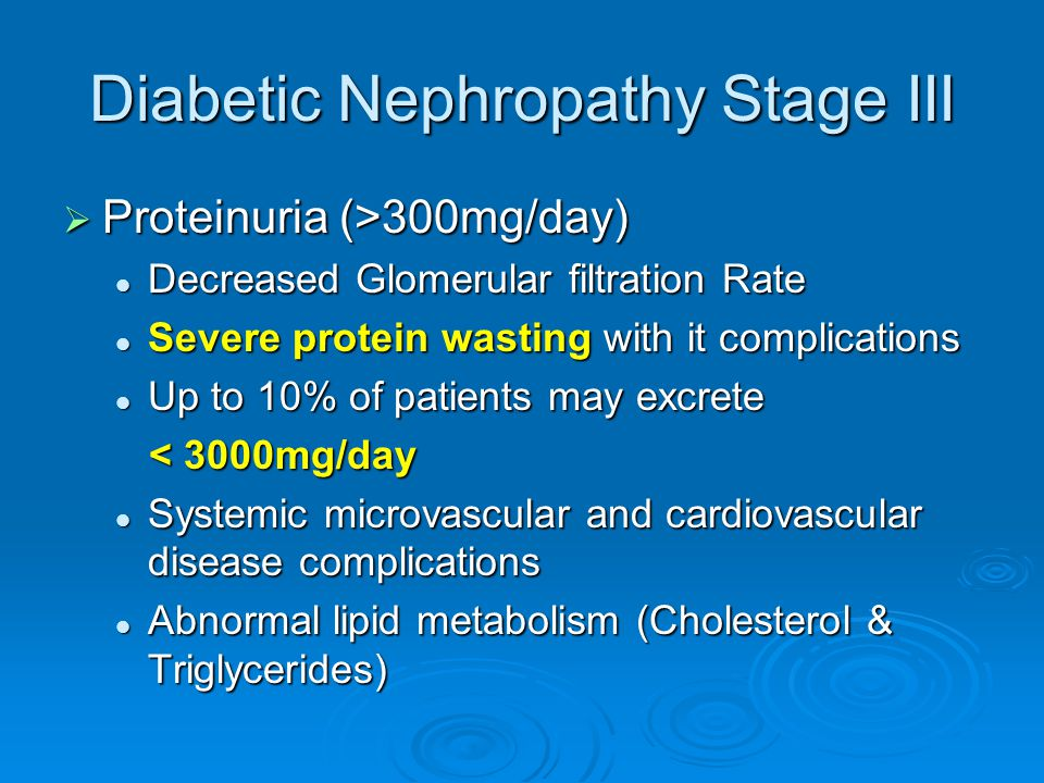 Diabetic Nephropathy Stage III