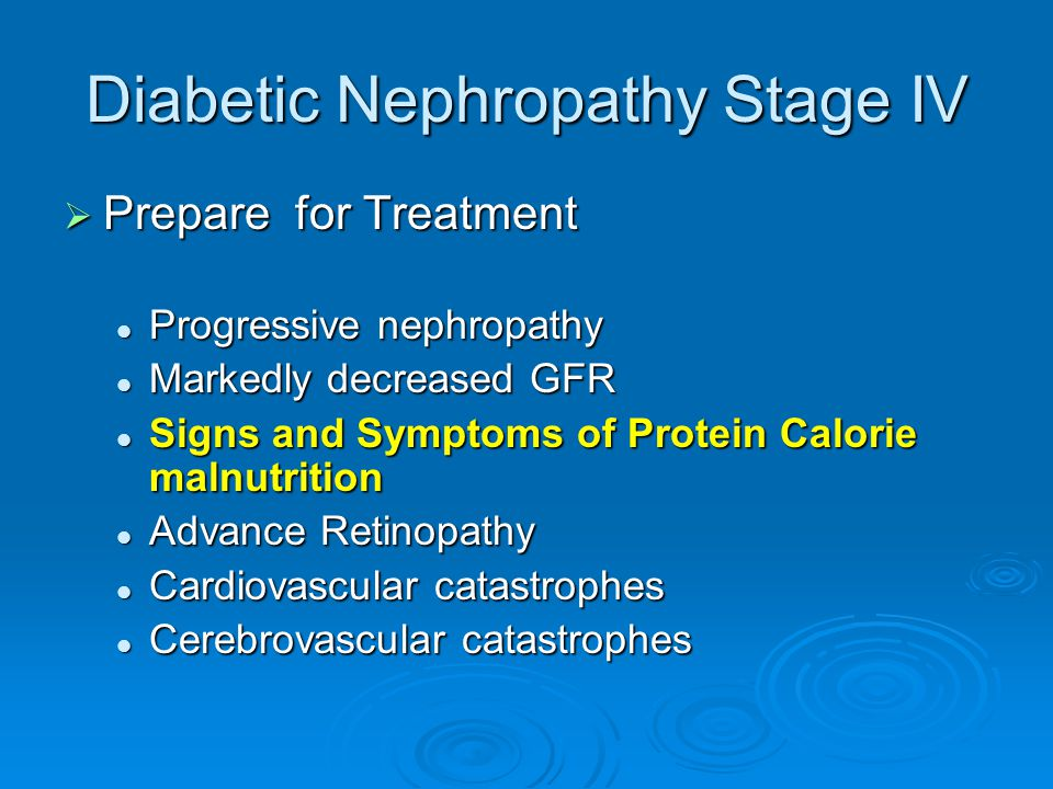 Diabetic Nephropathy Stage IV
