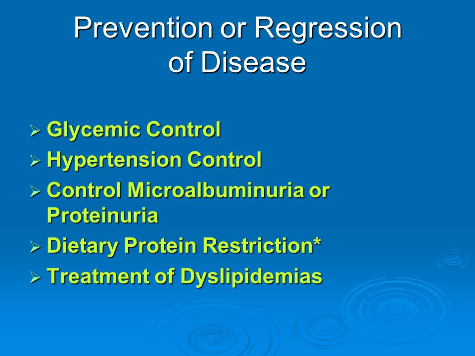 Prevention or Regression of Disease