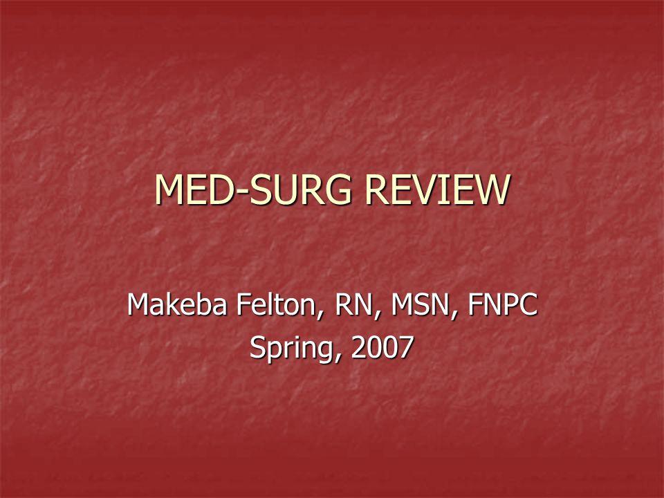 Makeba Felton, RN, MSN, FNPC Spring, 2007
