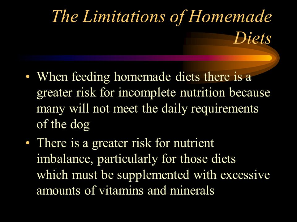 The Limitations of Homemade Diets