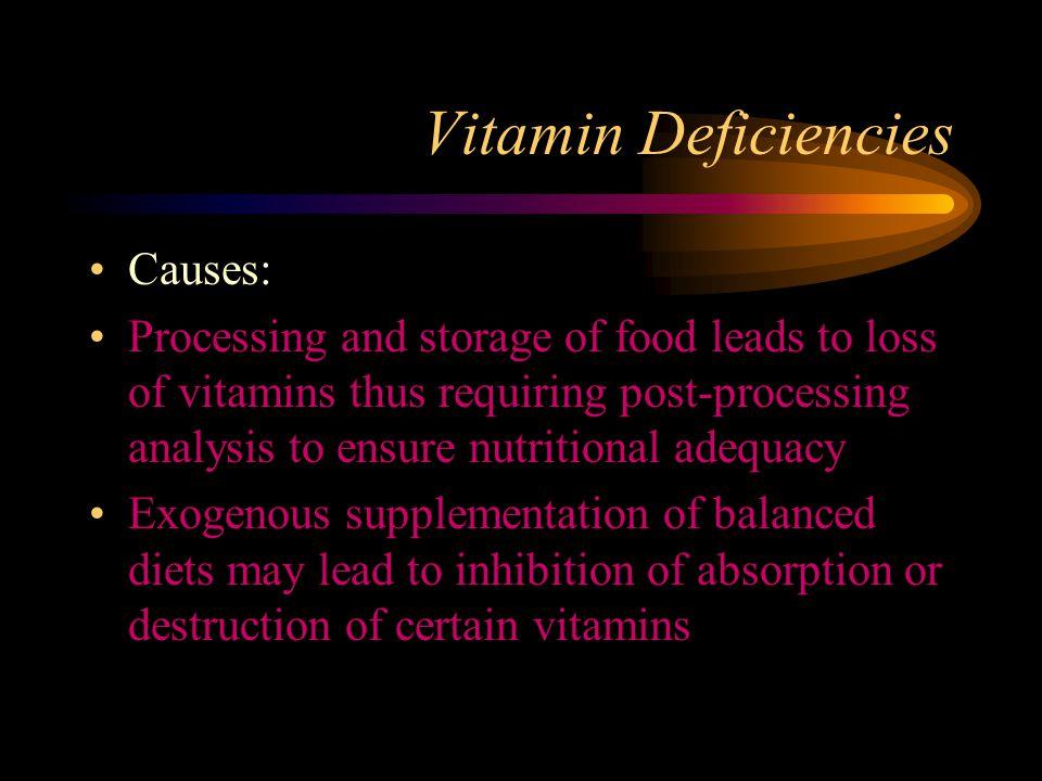Vitamin Deficiencies Causes: