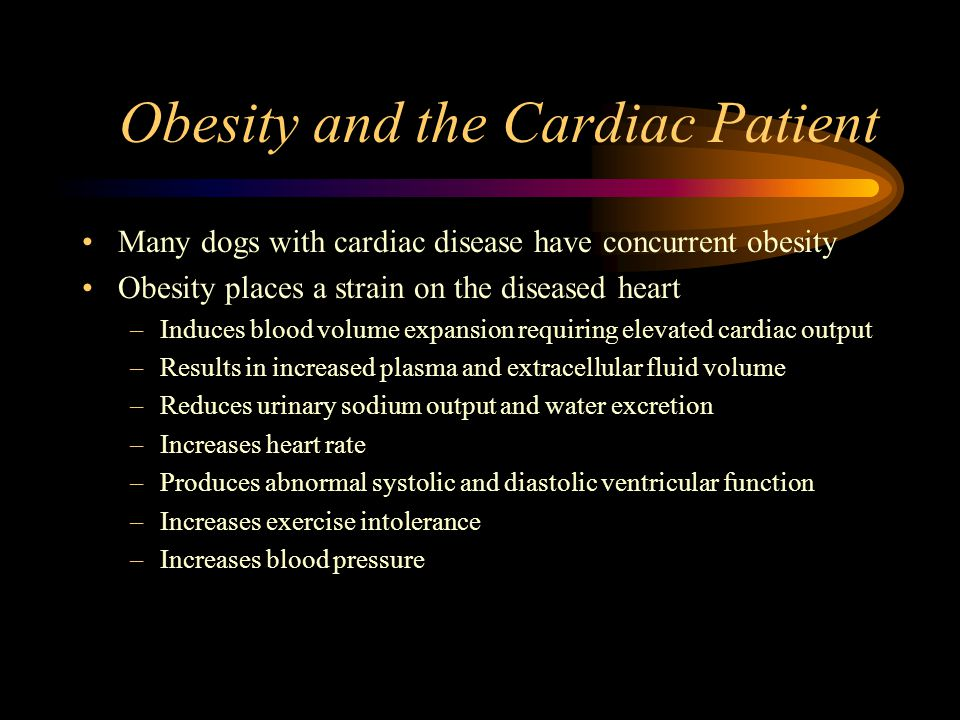 Obesity and the Cardiac Patient