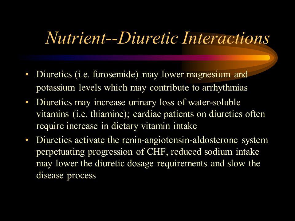 Nutrient--Diuretic Interactions