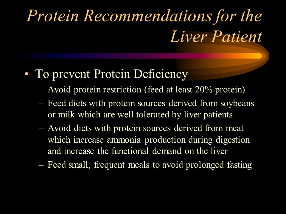Protein Recommendations for the Liver Patient