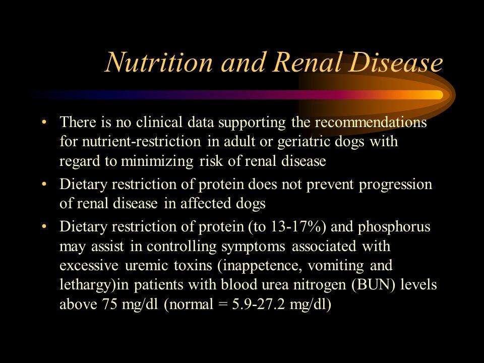 Nutrition and Renal Disease
