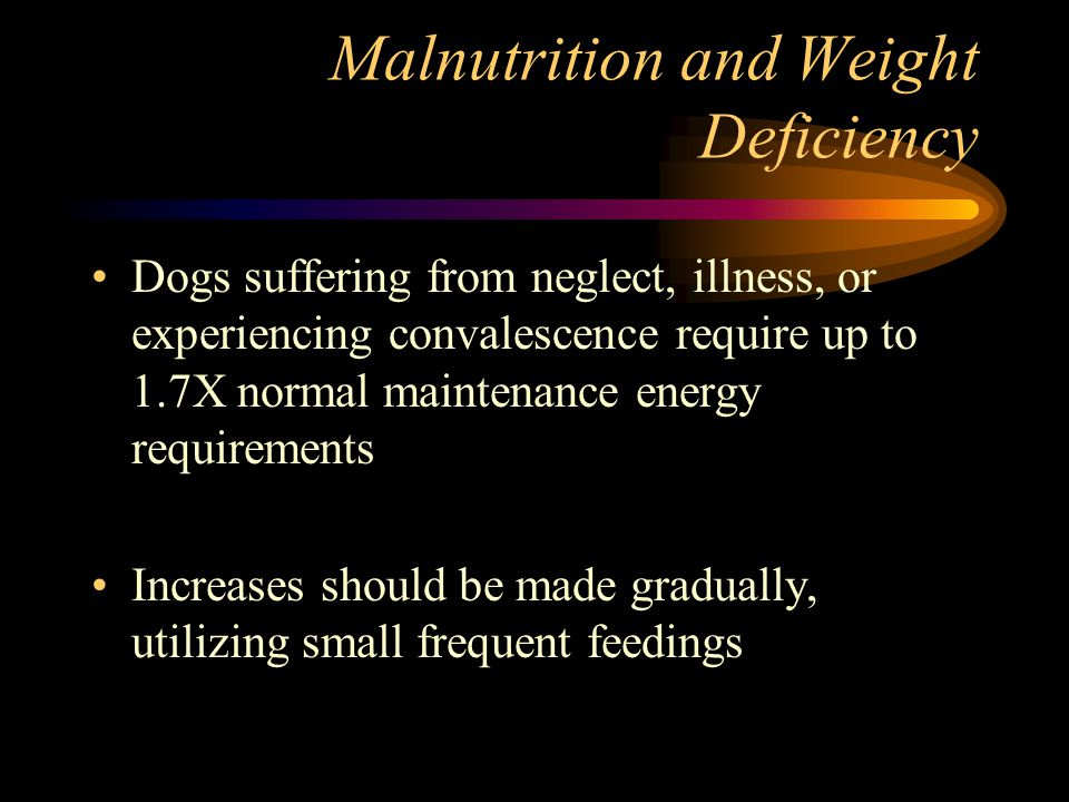 Malnutrition and Weight Deficiency