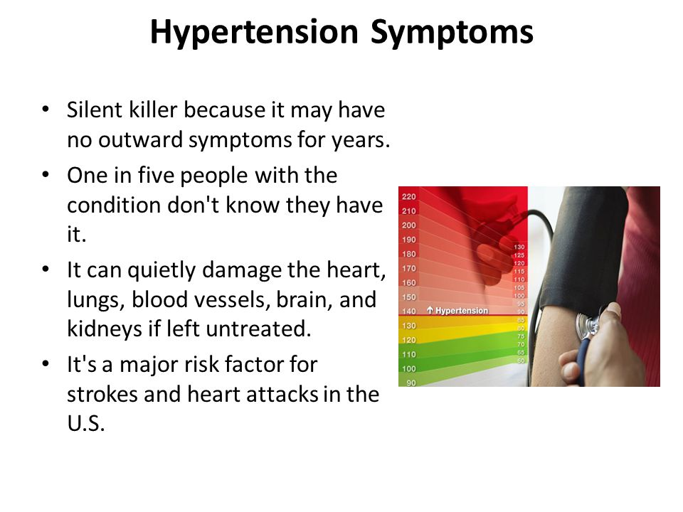 Hypertension Symptoms