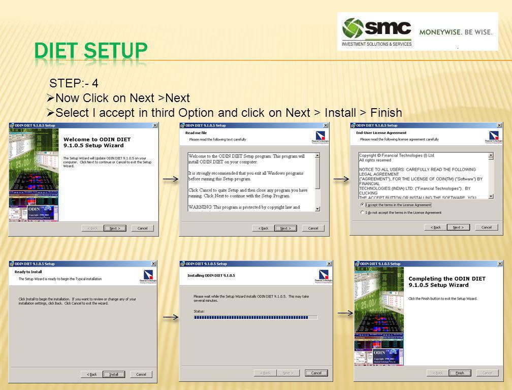 DIET SETUP STEP:- 4 Now Click on Next >Next