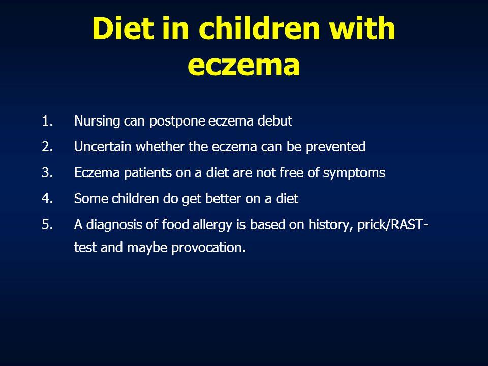 Diet in children with eczema