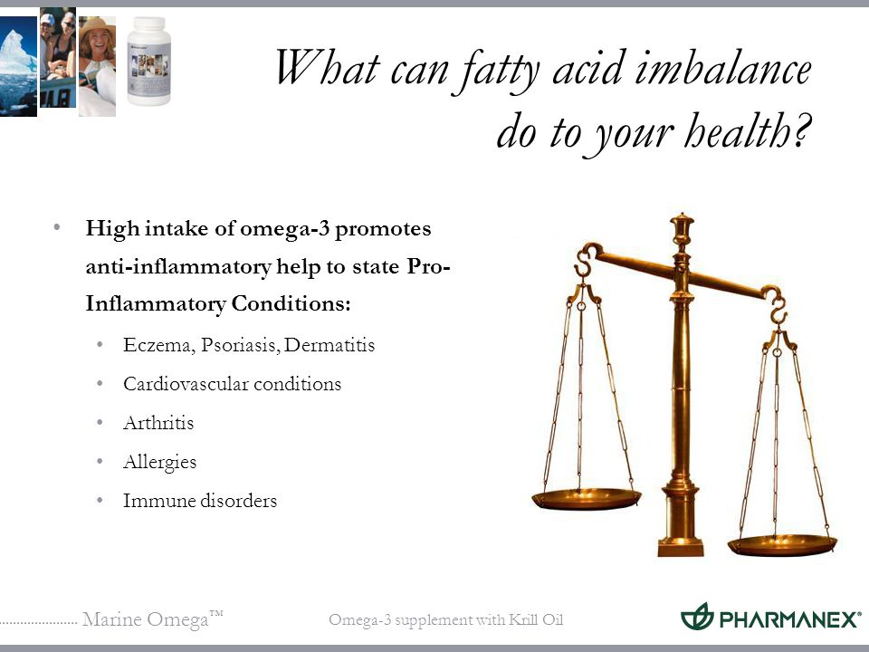 What can fatty acid imbalance do to your health