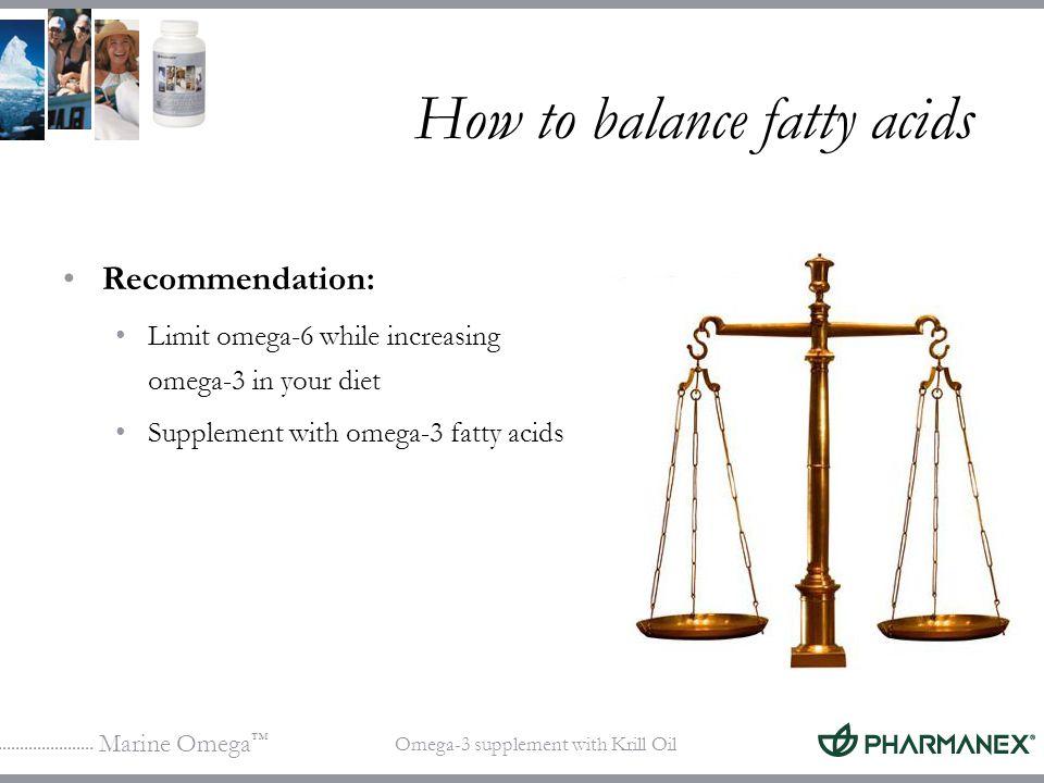How to balance fatty acids