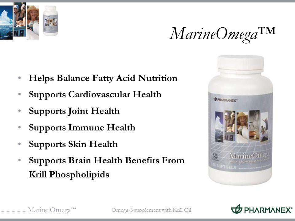 MarineOmega™ Helps Balance Fatty Acid Nutrition