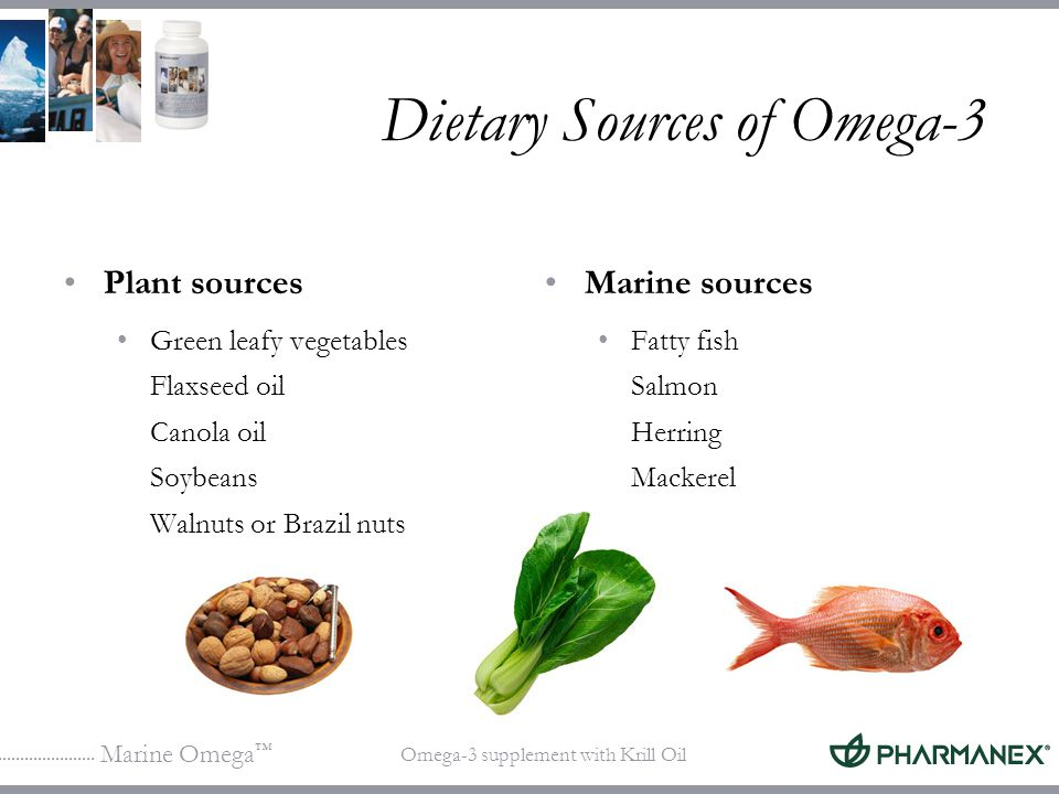 Dietary Sources of Omega-3