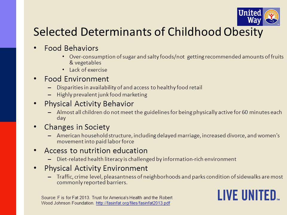 Selected Determinants of Childhood Obesity