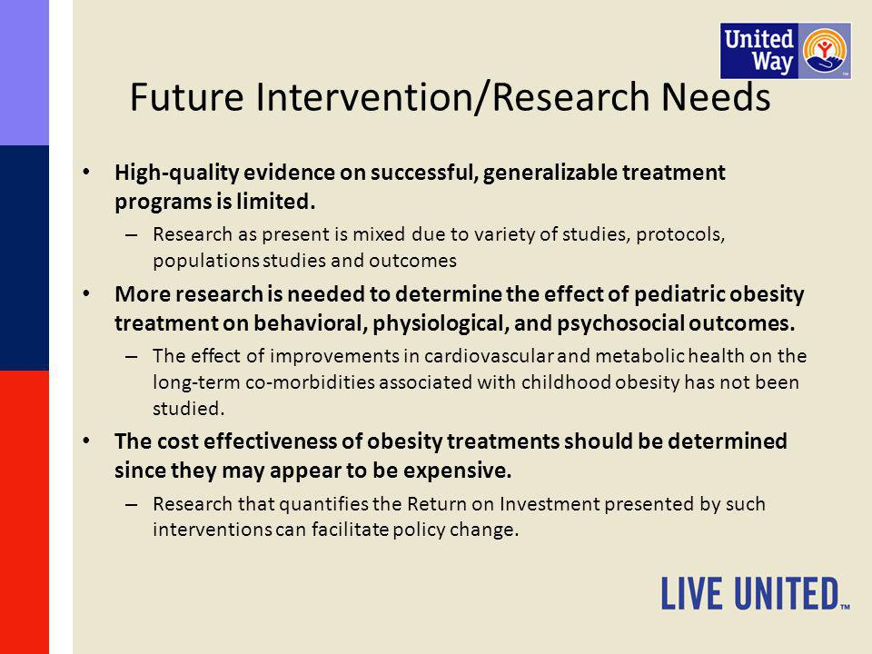 Future Intervention/Research Needs