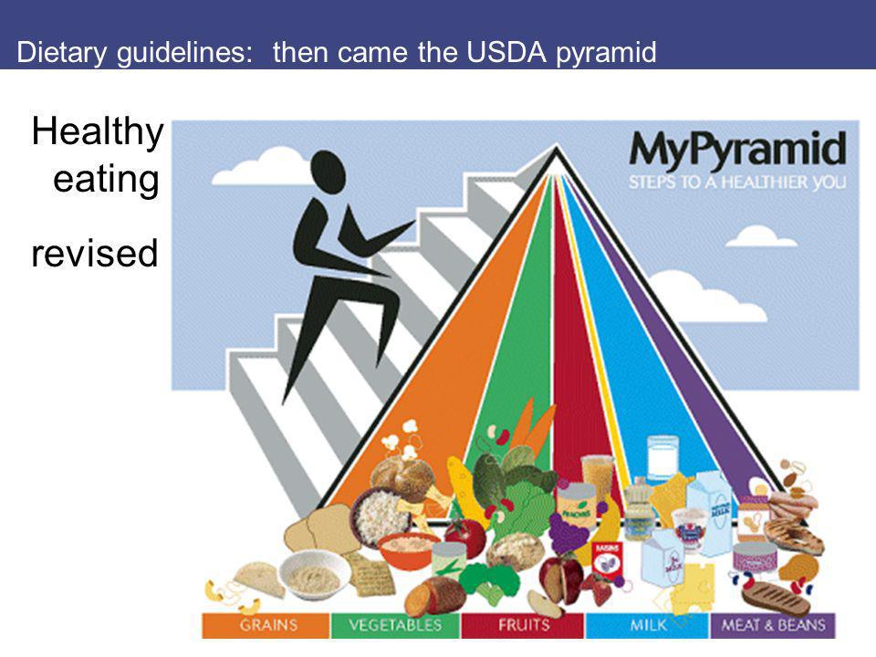 Dietary guidelines: then came the USDA pyramid