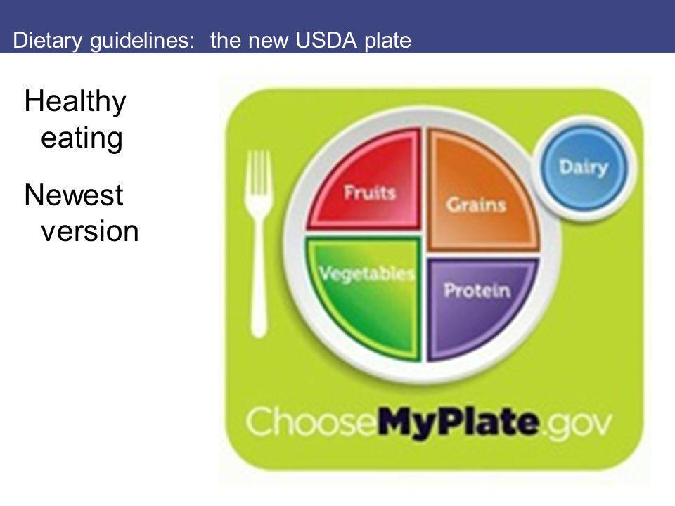 Dietary guidelines: the new USDA plate