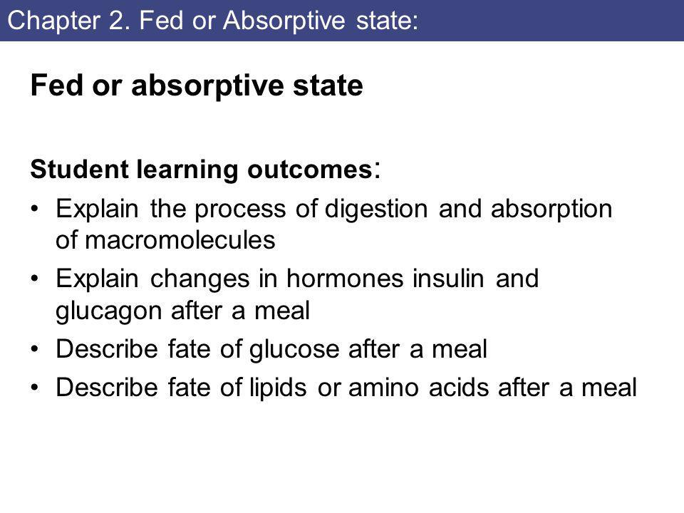 Chapter 2. Fed or Absorptive state: