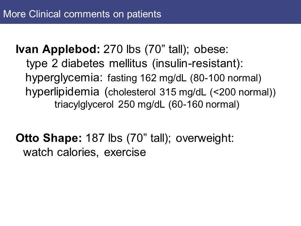 More Clinical comments on patients