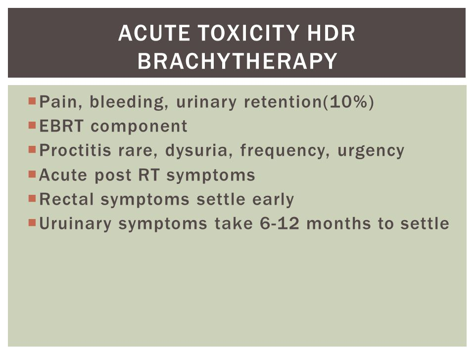 Acute toxicity HDR brachytherapy