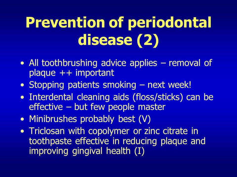 Prevention of periodontal disease (2)