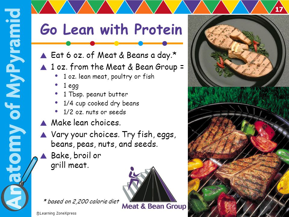 Go Lean with Protein Eat 6 oz. of Meat & Beans a day.*