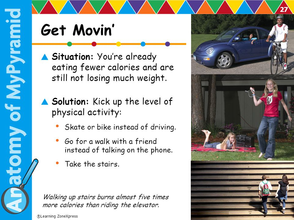 Get Movin' Situation: You're already eating fewer calories and are still not losing much weight.