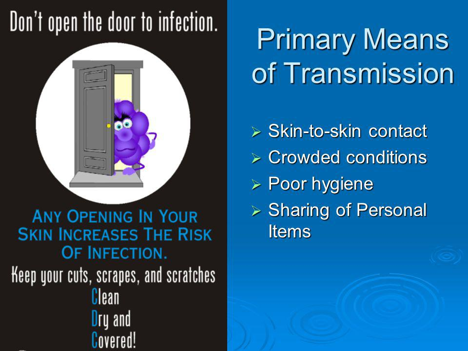 Primary Means of Transmission