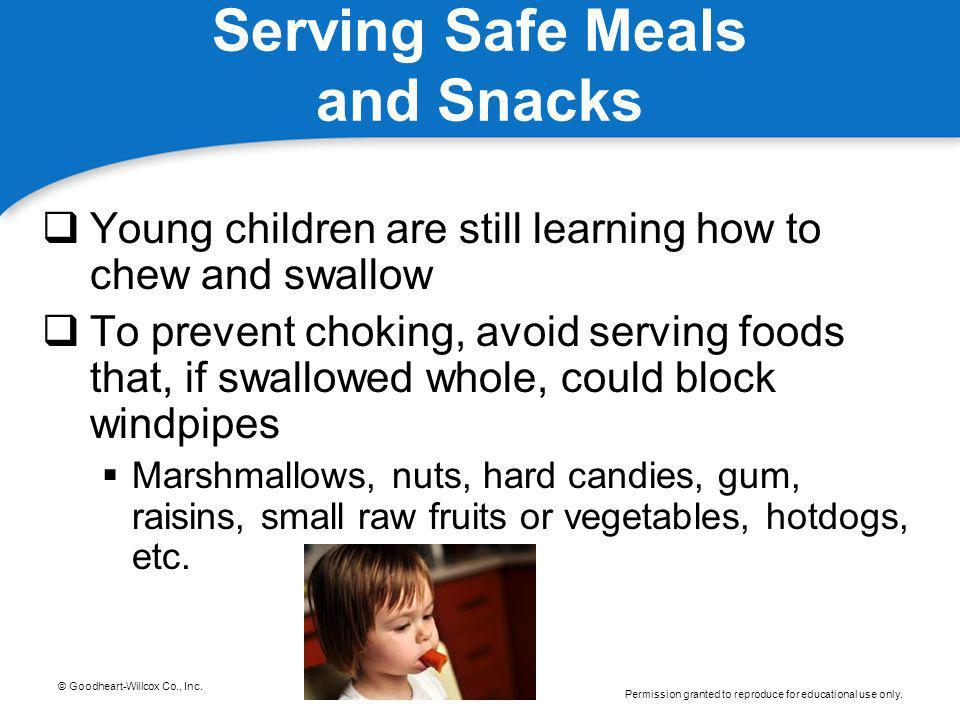 Serving Safe Meals and Snacks