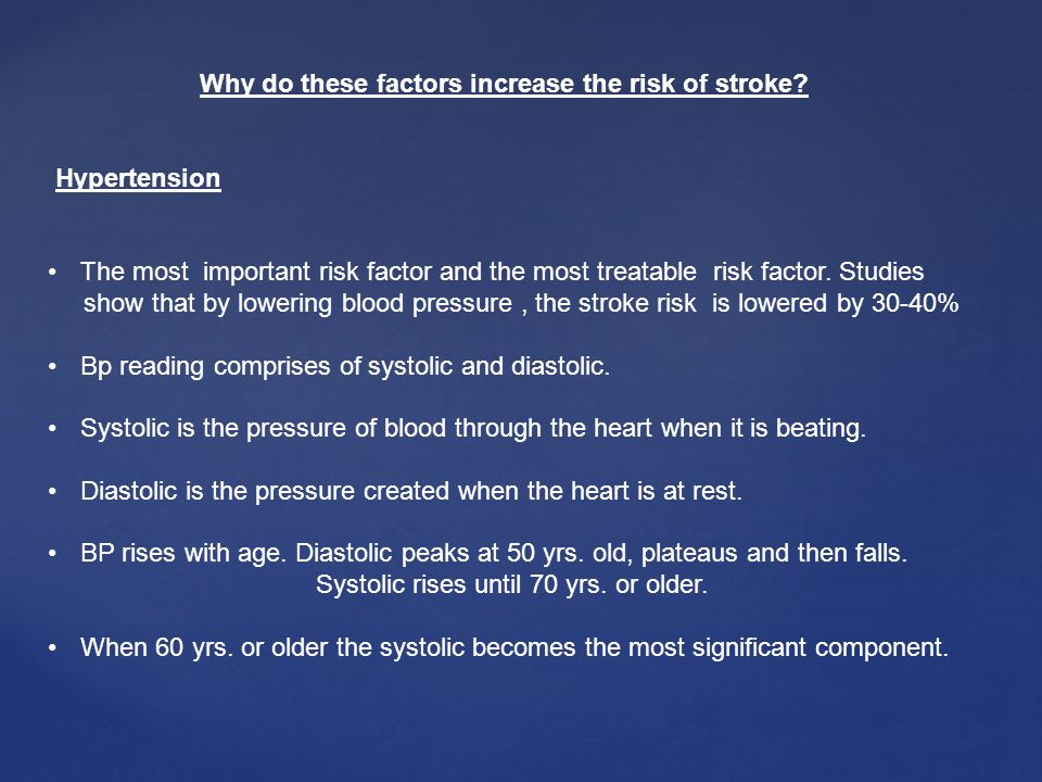 Why do these factors increase the risk of stroke